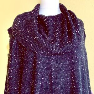 NWT Avenue Sparkly Black Layered Sweater 26 28